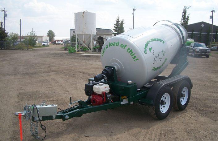 Small batch concrete trailer at Edmonton yard